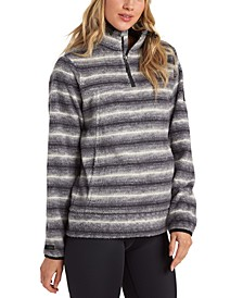 Juniors' Boundary Printed Fleece Sweater