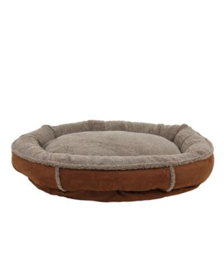 Memory Foam Tipped Berber Round Comfy Cup Dog Bed