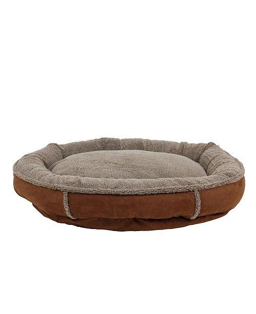 Carolina Pet Company Memory Foam Tipped Berber Round Comfy Cup Dog Bed