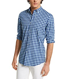 Men's Stretch Gingham Shirt, Created for Macy's