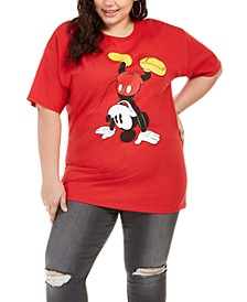 Hybrid Trendy Plus Size Upside-Down Mickey T-Shirt, Created For Macy's