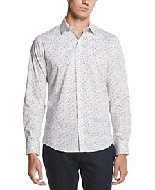 Men's Performance Stretch French Placket Square Print Shirt