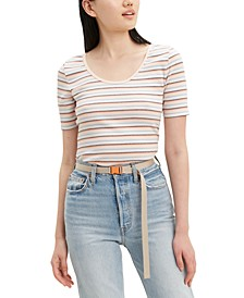Venice Striped Stretch T-Shirt