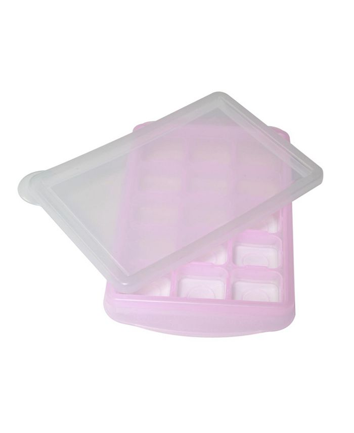 Easily Pops Out - 15 Compartments Ice Cube Tray with Lid