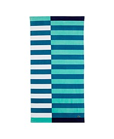 "Teal Coolness Cotton 36"" X 72"" Beach Towel"