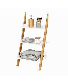 3-Tier Leaning Bathroom Ladder Shelf