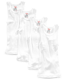 Hanes Platinum 4-Pk. Cotton Tank Undershirts, Little Boys & Big Boys
