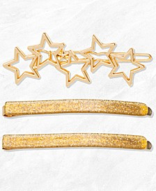 3-Pc. Gold Star Clip Set