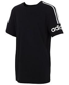 Big Boys Cotton Three-Stripe T-Shirt