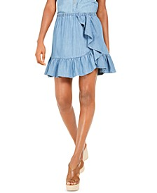 Ruffled Chambray Skirt