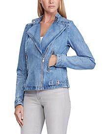 Moto-Inspired Denim Jacket