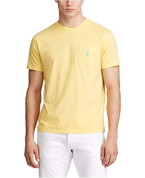 lag sympati utvecklande  Polo Ralph Lauren Men's Crew Neck Pocket T-Shirt & Reviews - T ...