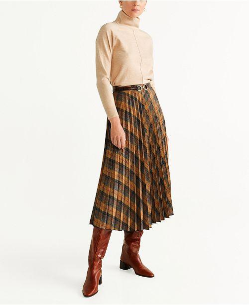 MANGO Turtleneck Knit Sweater