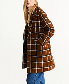 Checked Lapels Coat