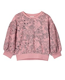 Little, Big and Toddler Girl's Sophie Slouch Crew Sweatshirt