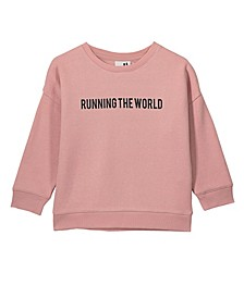 Little, Big and Toddler Girl's Sage Crew Sweatshirt