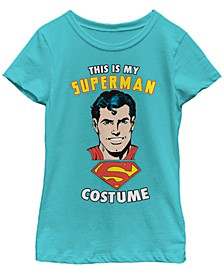 DC Comic's Big Girl's This Is My Superman Costume Short Sleeve T-Shirt