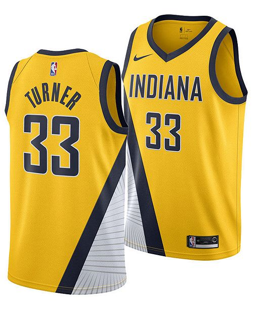 Nike Men's Myles Turner Indiana Pacers Statement Swingman Jersey