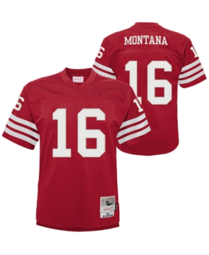Mitchell & Ness Big Boys Joe Montana San Francisco 49ers Legacy Retired Player Jersey