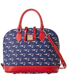 New England Patriots Saffiano Zip Satchel