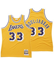 Men's Kareem Abdul-Jabbar Los Angeles Lakers Hardwood Classic Swingman Jersey