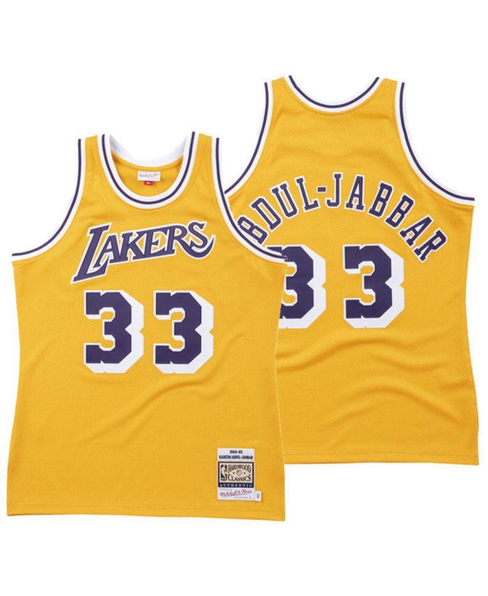 Mitchell & Ness Men's Kareem Abdul-Jabbar Los Angeles Lakers Hardwood Classic Swingman Jersey & Reviews - Sports Fan Shop By Lids - Men - Macy's