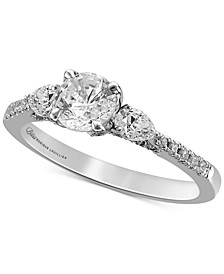 Diamond Three Stone Engagement Ring (1-1/4 ct. t.w.) in 14k White Gold