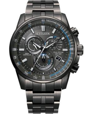 Eco-Drive Men's Pcat Gray Stainless Steel Bracelet Watch 43mm
