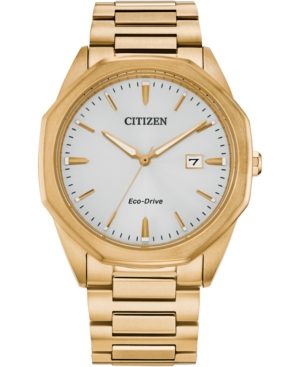 Eco-Drive Men's Corso Gold-Tone Stainless Steel Bracelet Watch 41mm