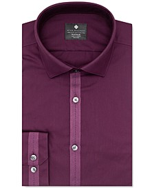 Men's Ultimate Slim-Fit Non-Iron Moisture-Wicking Performance Stretch Grosgrain Ribbon Dress Shirt, Created For Macy's