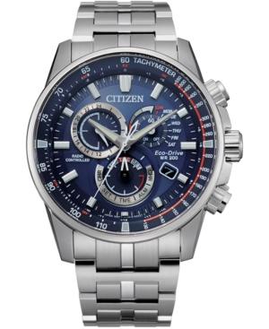 Eco-Drive Men's Pcat Stainless Steel Bracelet Watch 43mm