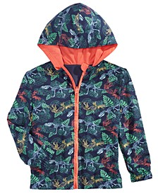 Little Boys Reversible Water-Resistant Hooded Windbreaker, Created for Macy's