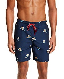 "Men's Surfing Bulldog 7"" Swim Trunks, Created for Macy's"