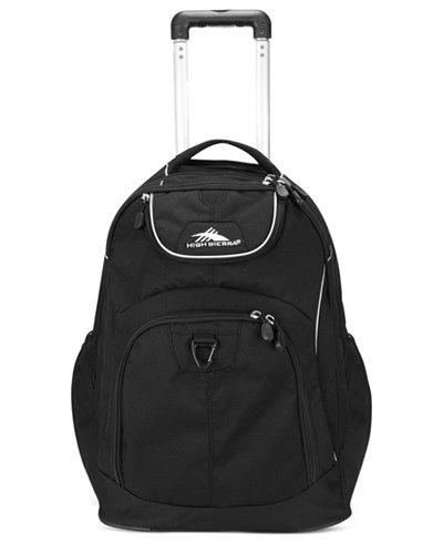 High Sierra Powerglide Rolling Backpack in Black
