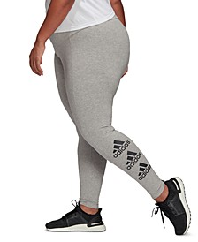 Plus Size Essentials Stacked-Logo Tights