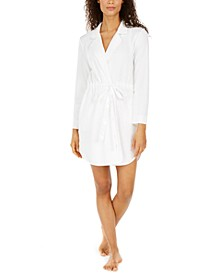 Notch Collar Short Wrap Robe, Created for Macy's
