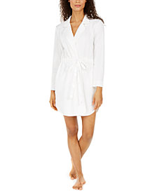 Charter Club Notch Collar Short Wrap Robe, Created for Macy's