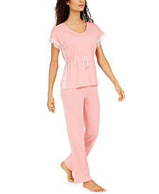 Lace-Trim Pajama Set, Created for Macy's