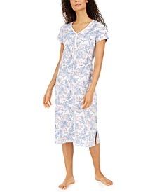 Cotton Printed Jersey Nightgown, Created for Macy's