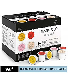 Coffee Variety Pack, Single Serve K-Cup, 96 Pods per Pack