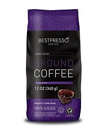 Dark Roast Flavor Ground Coffee, 3 pack of 12oz Bag