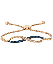 Blueberry Sapphire (3/8 ct. t.w.) & Vanilla Diamond (1/6 ct. t.w.) Bolo Bracelet in 14k Rose Gold