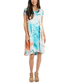 Tie-Dye Trapeze Dress