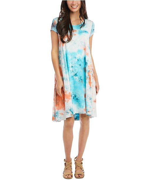 Karen Kane Tie-Dye Trapeze Dress