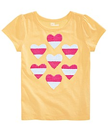Little Girls Hearts Flip Sequin T-Shirt, Created for Macy's
