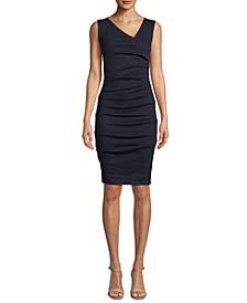 Ponté-Knit Asymmetrical Dress
