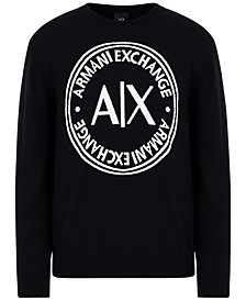 Circle Logo Long Sleeve Crew Neck Pullover
