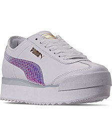 Women's Roma Amor Metallic Platform Casual Sneakers from Finish Line