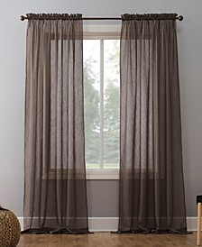 "Crushed Sheer Voile 51"" x 95"" Curtain Panel"