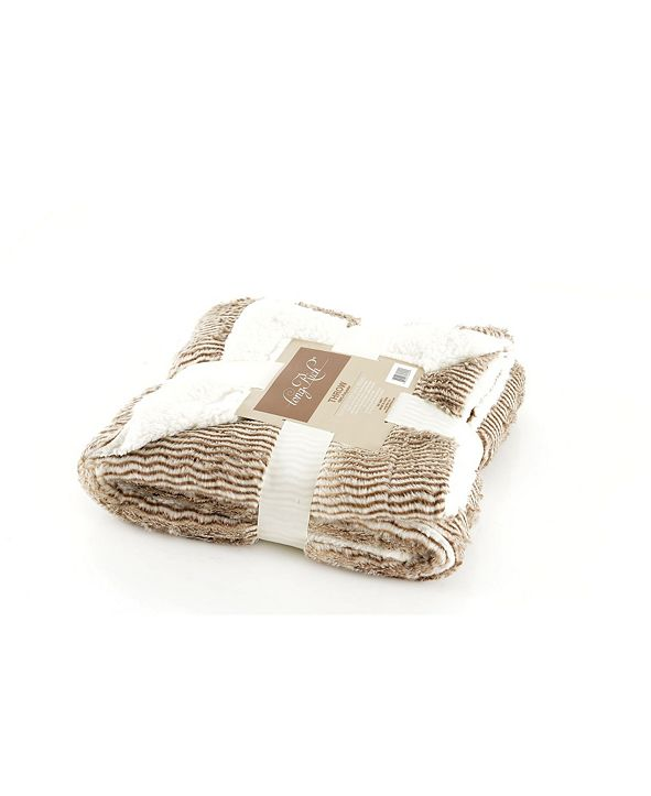 Happycare Textiles Luxury Reverse to Sherpa Throw
